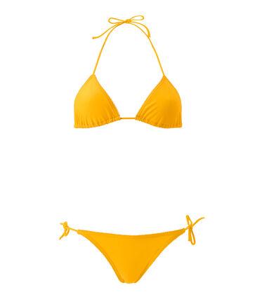 Costume da bagno 2 pezzi tinta unita arancione Fusion