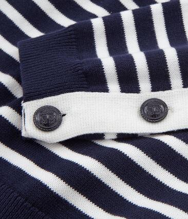 Pull donna blu Smoking / bianco Marshmallow