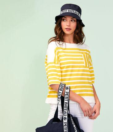 Marinière donna giallo Shine / bianco Marshmallow