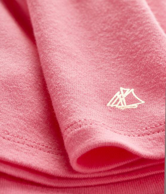 Blusa manica corta bebè femmina a tinta unita. rosa Cupcake