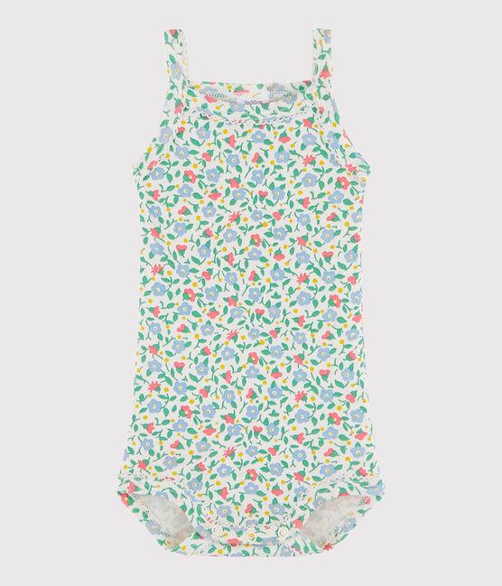 Body con spalline bebè femmina bianco Marshmallow / bianco Multico