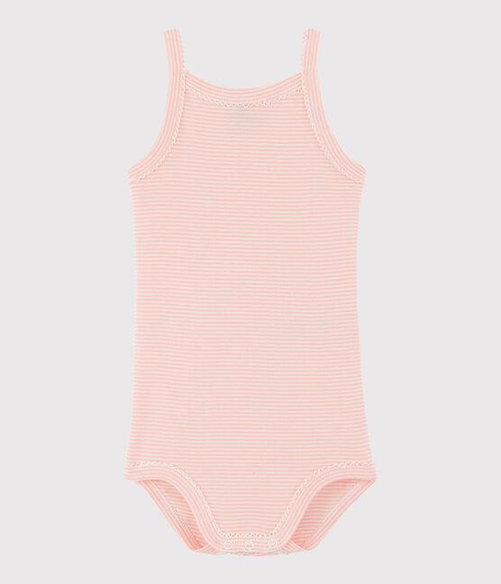 Body con spalline bebè femmina rosa Rosako / bianco Marshmallow