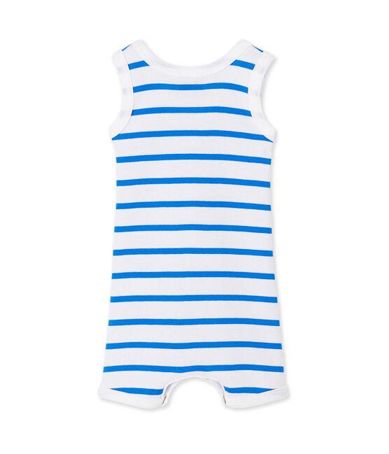 Combicourt bébé garçon rayé bianco Ecume / blu Delphinium