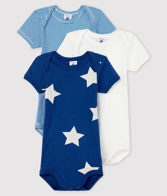 Confezione da 3 body manica corta bebè maschio lotto .
