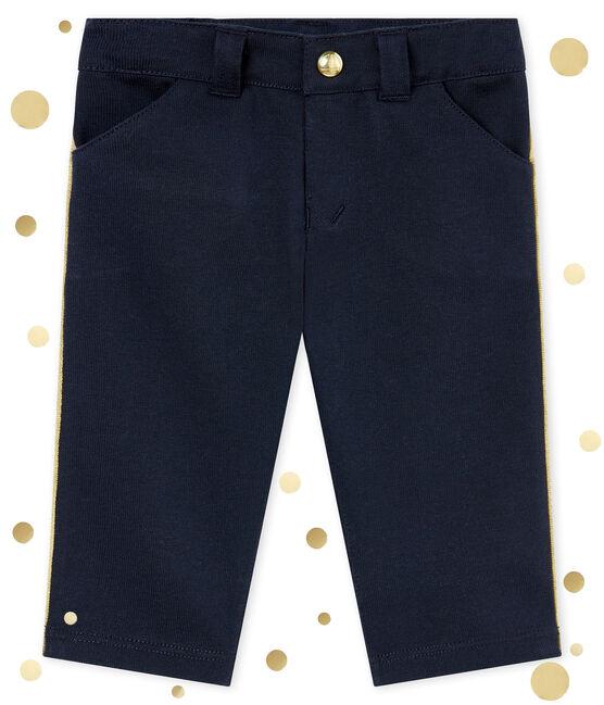 Pantalone bebé maschio in maglia blu Smoking