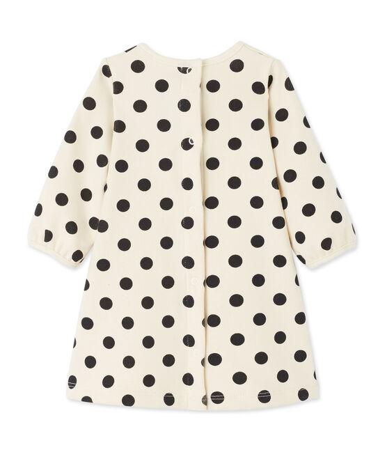 Robe bébé fille à pois beige Coquille / grigio Capecod