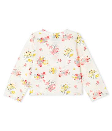 Cardigan neonata stampato bianco Marshmallow / bianco Multico