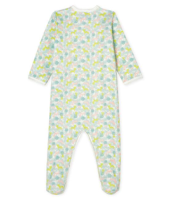 Tutina pigiama bebè femmina in molleton bianco Marshmallow / bianco Multico