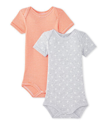 Lotto di 2 bodies per bebé maschio a maniche corte