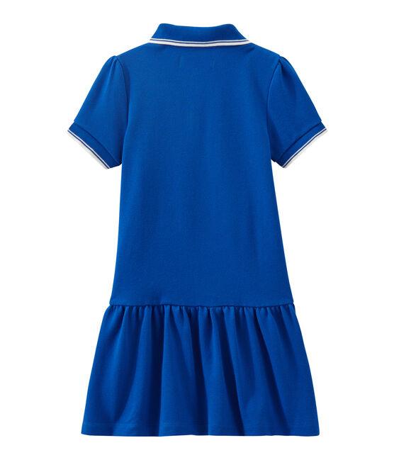 Abito per bambina a maniche corte blu Perse