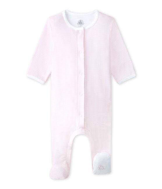 Bodygiama Bebé unisex rosa Vienne / bianco Ecume