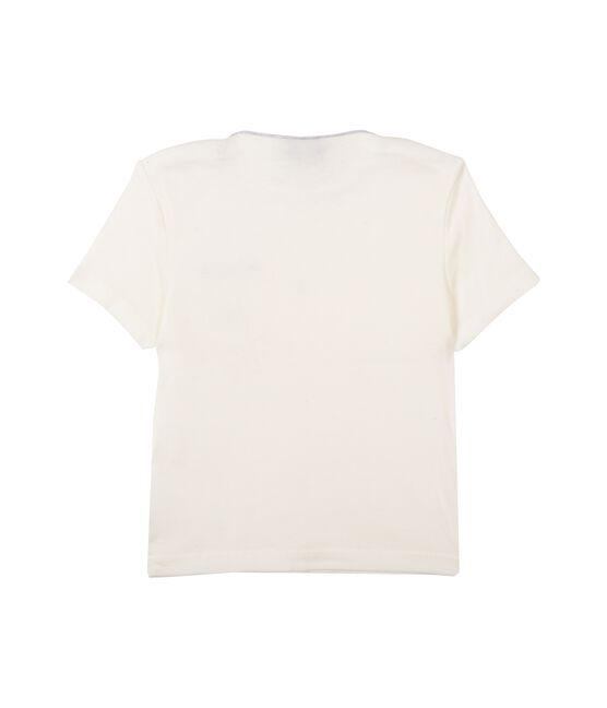 Tee shirt manches courtes bébé garçon bianco Marshmallow Cn