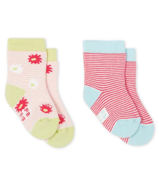 Set di 2 paia di calzini bebè bambina lotto .