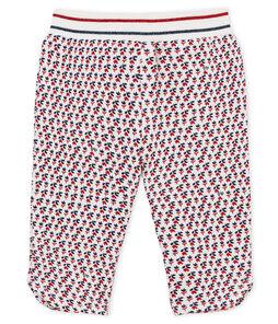 Pantalone neonata in molleton fantasia