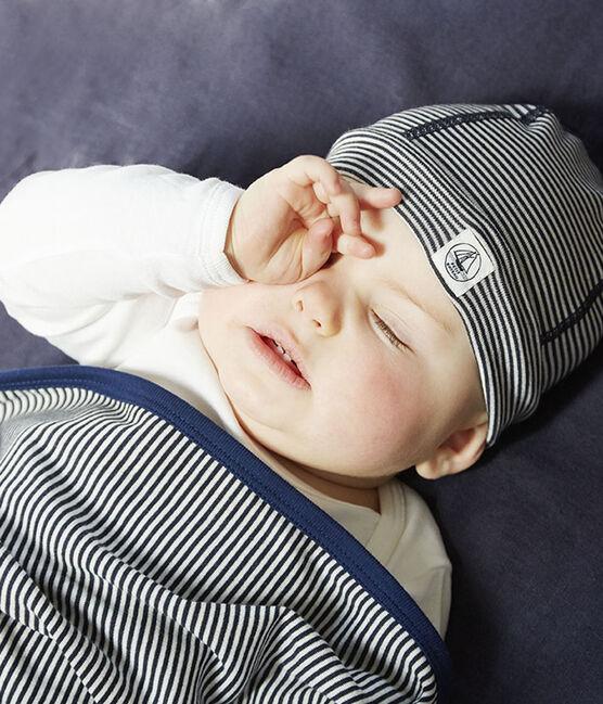 Cuffietta nascita anti-onde blu Smoking / bianco Ecume