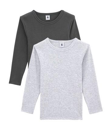 Lotto di 2 t-shirts a maniche lunghe per bambino