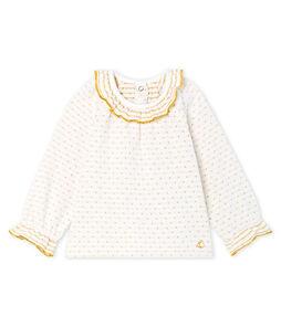 Blusa a manica lunga per bebè femmina in tubique jacquard