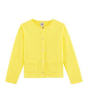 Cardigan bambina giallo Eblouis