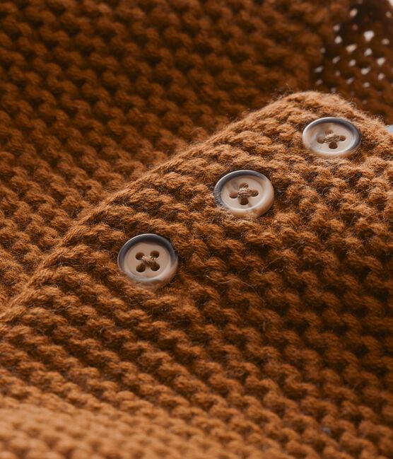 Cardigan punto legaccio per bebé unisex marrone Autumn