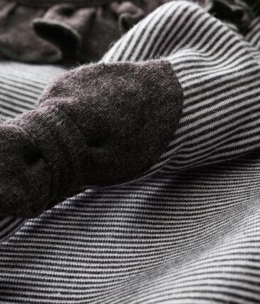 Abito rigato e fascia per bebé femmina