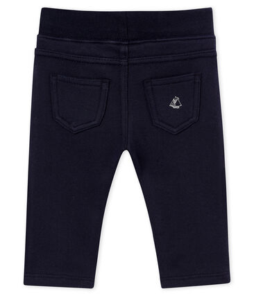 Pantalone per bebé maschio in molleton blu Smoking