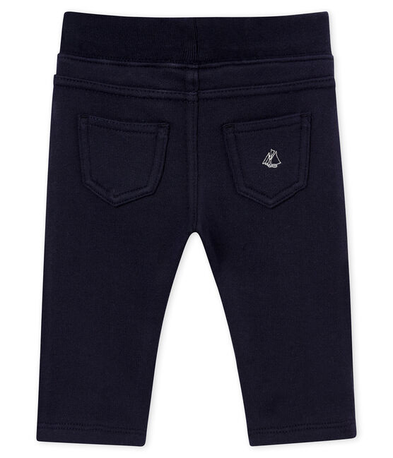 Pantalone per bebé maschio in molleton blu Smoking
