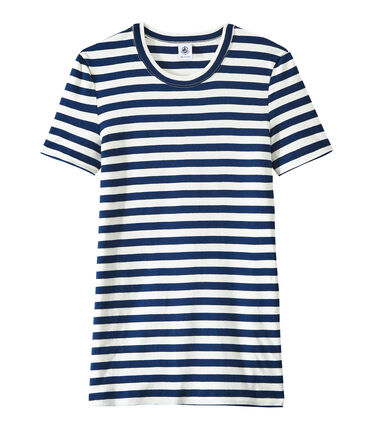 T-shirt donna in costina originale 1x1 rigata