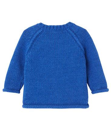 Pull jacquard per bebé maschio blu Limoges