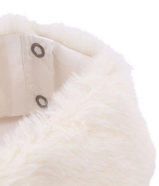 Lotto di colletto e polsini per bambina bianco Marshmallow