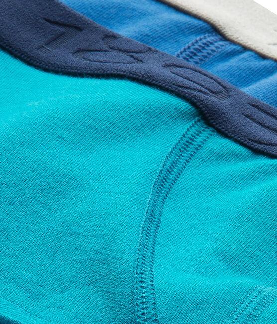 Confezione di 2 boxers bambino tinta unita in jersey stretch lotto .