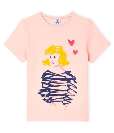 T-shirt a maniche corte bambina rosa Minois