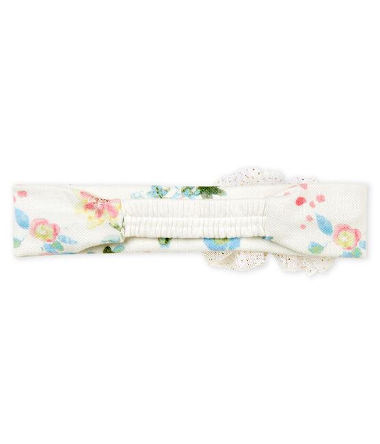 Fascia bebè femmina con pompon bianco Marshmallow / bianco Multico