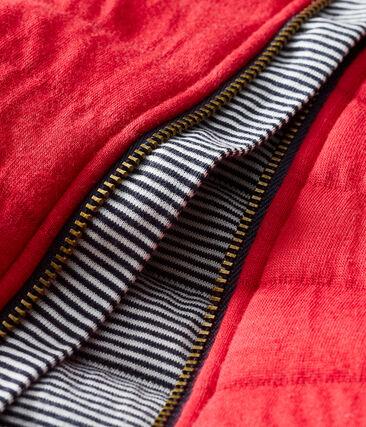 Cappotto in tubique trapuntato bebè femmina rosso Terkuit