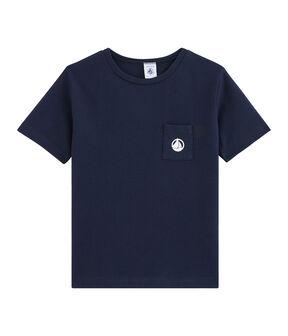 T-shirt bambino blu Smoking