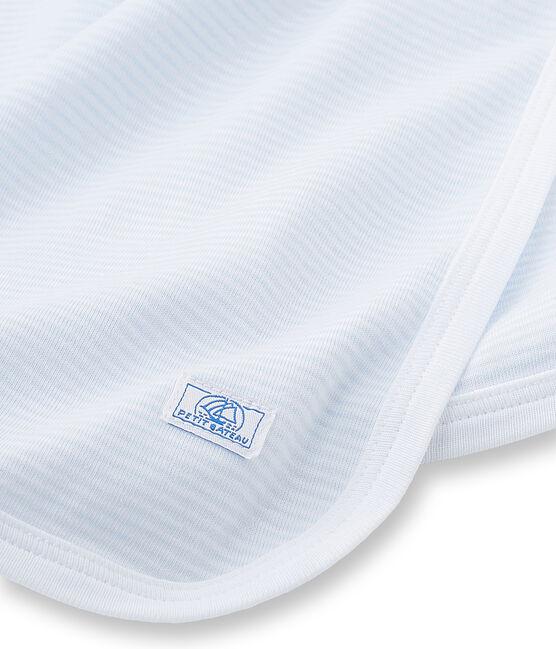 Copertina per bebé unisex millerighe blu Fraicheur / bianco Ecume