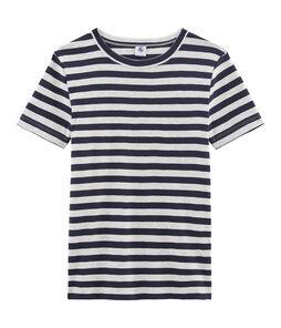 T-shirt iconica donna blu Smoking / grigio Beluga