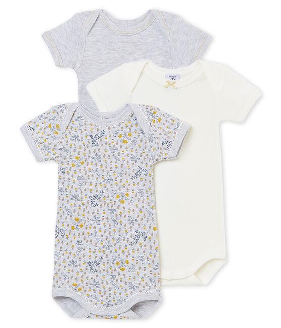 Lotto di 3 bodies a maniche corte per bebé femmina lotto .