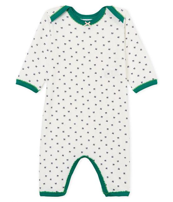 Tutina pigiama bambina a costine bianco Marshmallow / blu Medieval