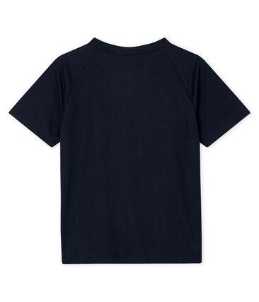 T-shirt sportiva bambino blu Smoking