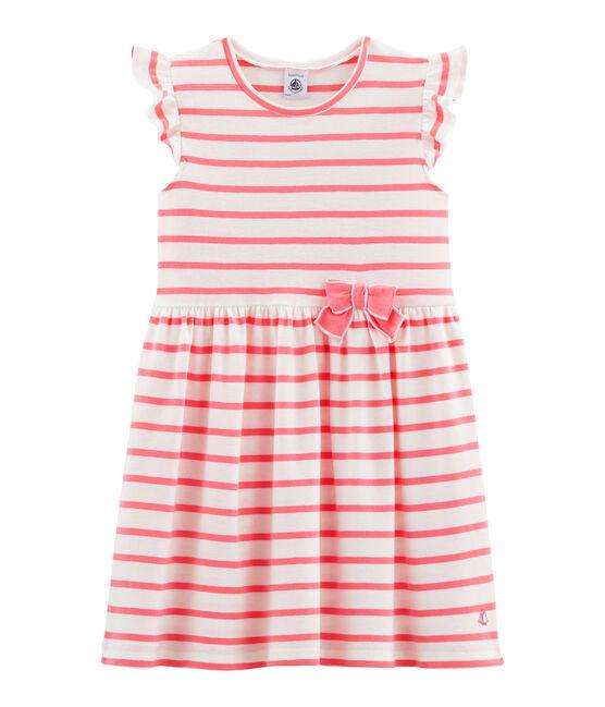 Abito bambina bianco Marshmallow / rosa Cupcake
