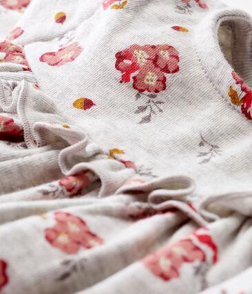 Abito a maniche lunghe da bebè femmina fantasia grigio Beluga / bianco Multico