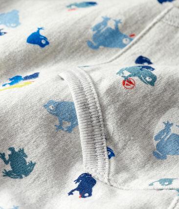Felpa bebè maschio fantasia grigio Beluga / bianco Multico