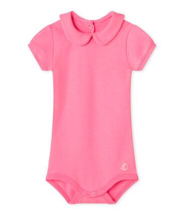 Body per bebè femmina con colletto rosa Petal