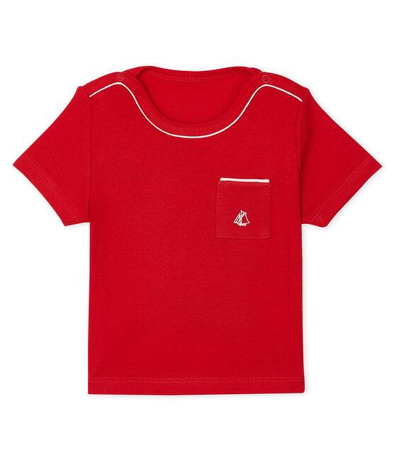 Tee shirt manches courtes bébé garçon rosso Terkuit