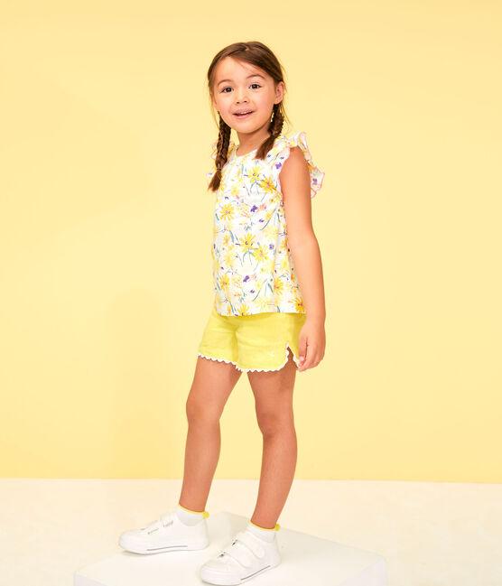 Bermuda bambina giallo Eblouis
