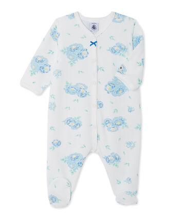 Tutina per bebè bambina in velluto stampata