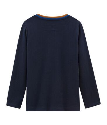 T-shirt a manica lunga bambino blu Smoking