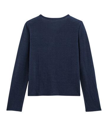 Cardigan donna in lino blu Medieval