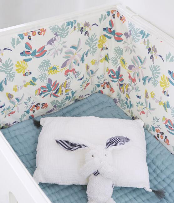 Giroletto fantasia giungla bebè femmina in costina bianco Marshmallow / bianco Multico