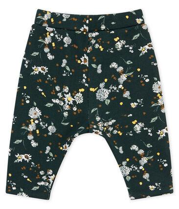 Pantalone in molleton caldo stampato per bebé femmina